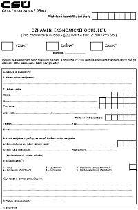 ČSÚ - nový formulář 2009