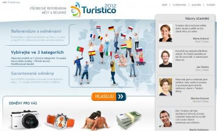 titulní stránka webu turistico2012.org